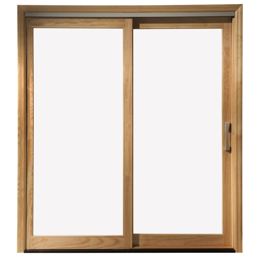 Stunning Pella 450 Series 71.25-in Clear Glass White Wood Sliding Patio Door sliding patio doors