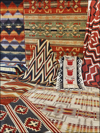 Stunning Pendleton southwest rugs, trade blanket design rugs, Navajo reproduction  textiles, Navajo reproduction southwestern style rugs