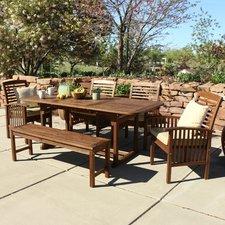 Stunning QUICK VIEW. Widmer 6-Piece Acacia Patio Dining Set ... wood patio dining sets