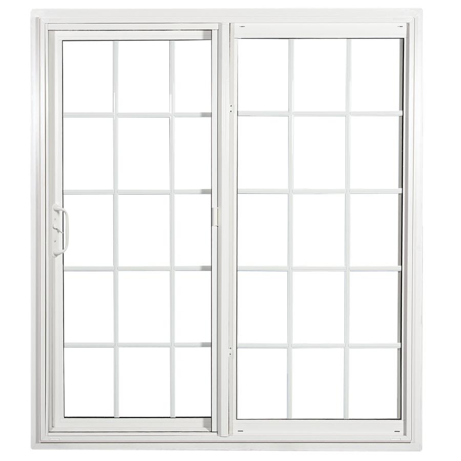 Stunning ReliaBilt 332 Series 70.75-in Grilles Between the Glass White Vinyl Sliding sliding patio doors