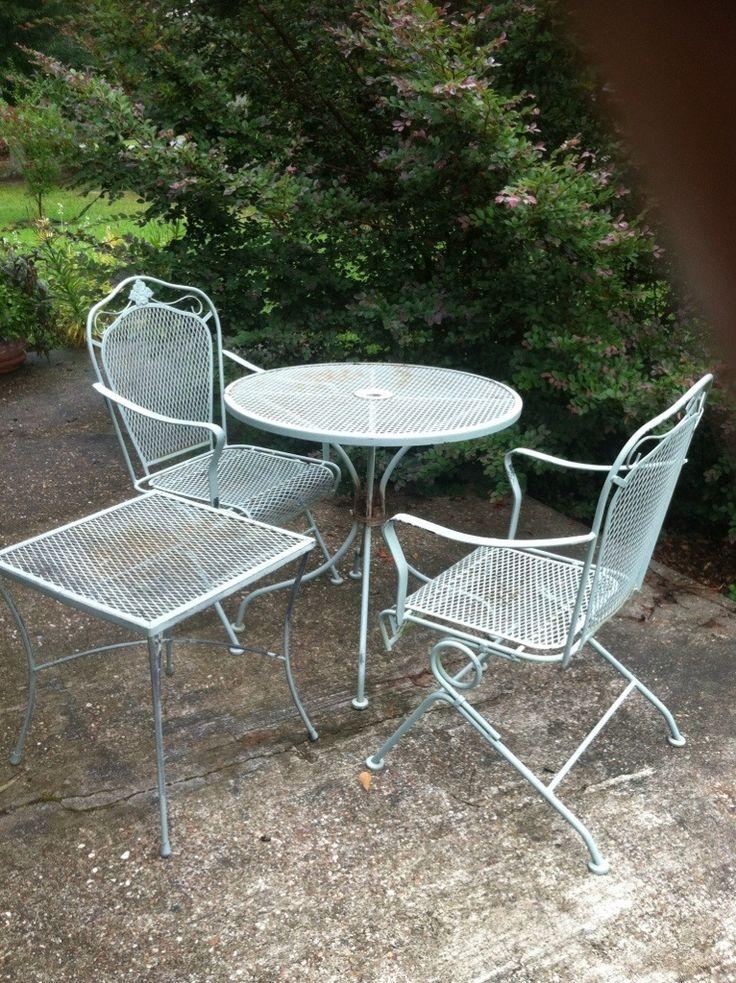 Stunning Repainting Metal Furniture: Easy as 1-2-3 metal outdoor patio furniture
