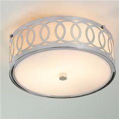 Stunning Small Interlocking Rings Flush Mount Ceiling Light flush bedroom ceiling lights