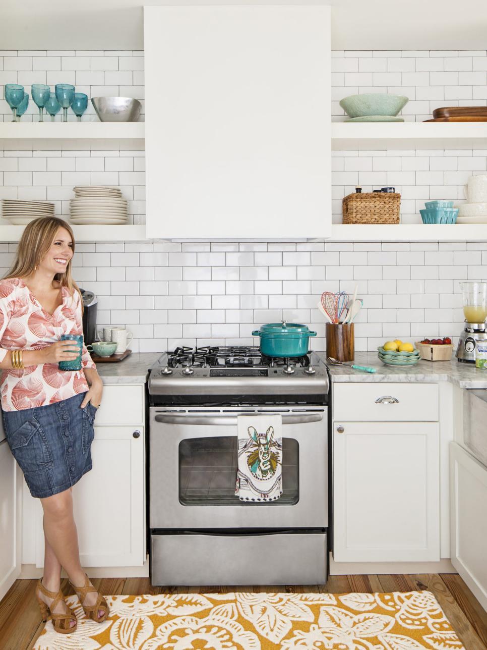 Stunning Small-Space Kitchen Remodel   HGTV small white kitchen designs