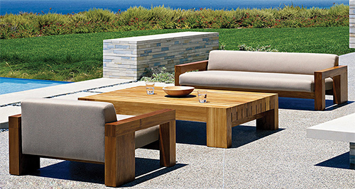 Stunning Stylish Solid Teak Wood Outdoor Patio Furniture by Marmol Radziner teak wood outdoor furniture