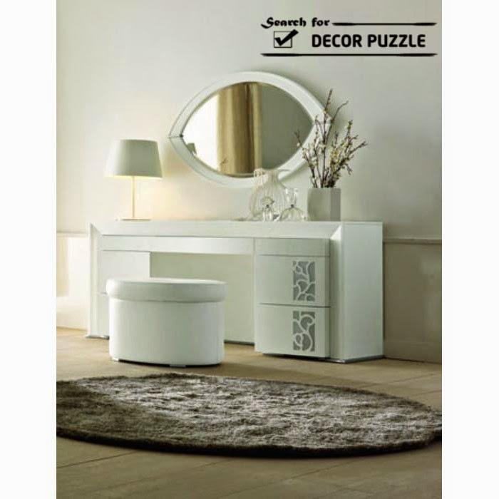 Stunning white modern dressing table designs for bedroom, oval dressing table mirror dressing mirrors for bedroom
