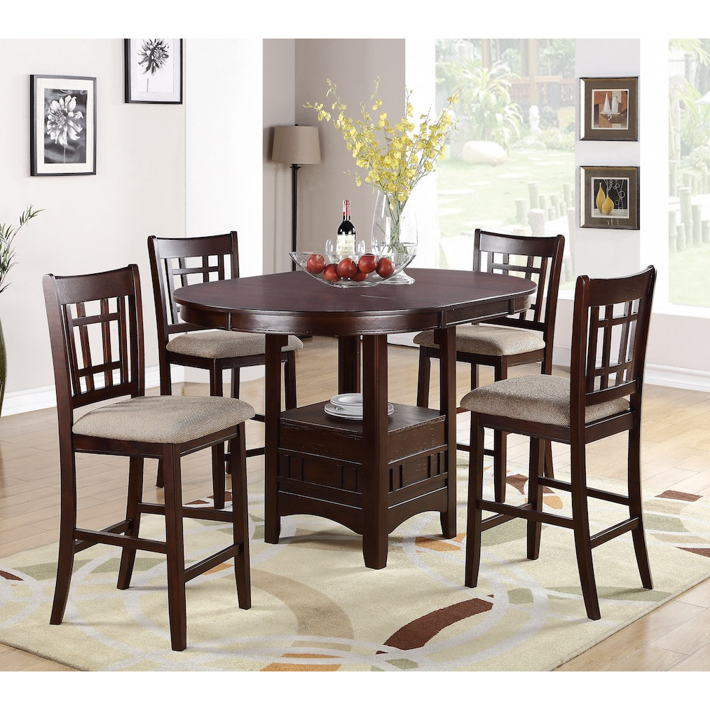 Stylish 5 Piece Counter Height Dining Set counter height dining set
