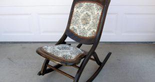 Stylish Alfa img - Showing u003e Antique Folding Rocking Chair Value folding rocking chair