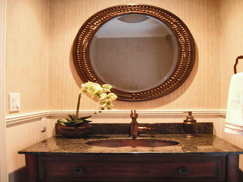 Stylish Amazing Oval Mirrors For Bathroom Vanities Home Design Ideas Ibuwe. Copper  Framed oval bathroom vanity mirrors