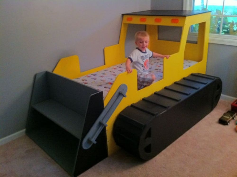 Stylish bulldozer toddler beds modern unique toddler beds for boys unique toddler beds for boys