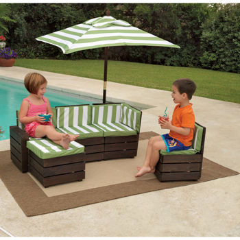 Stylish Costco: KidKraft® - Outdoor Sectional The kids want this for the pool Nana kids outdoor furniture table and chairs