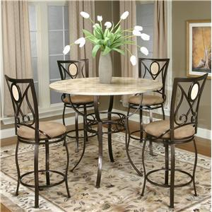 Stylish Cramco, Inc Cramco Trading Company - Nadia Five Piece Pub Table Set round pub table sets