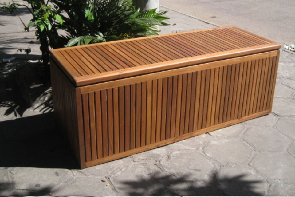 Stylish Outdoor Storage Cabinet Waterproof Teak outdoor storage box waterproof