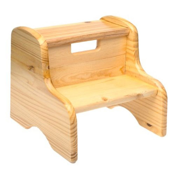 Stylish Wood Step Stool - Solid Pine wooden step stool