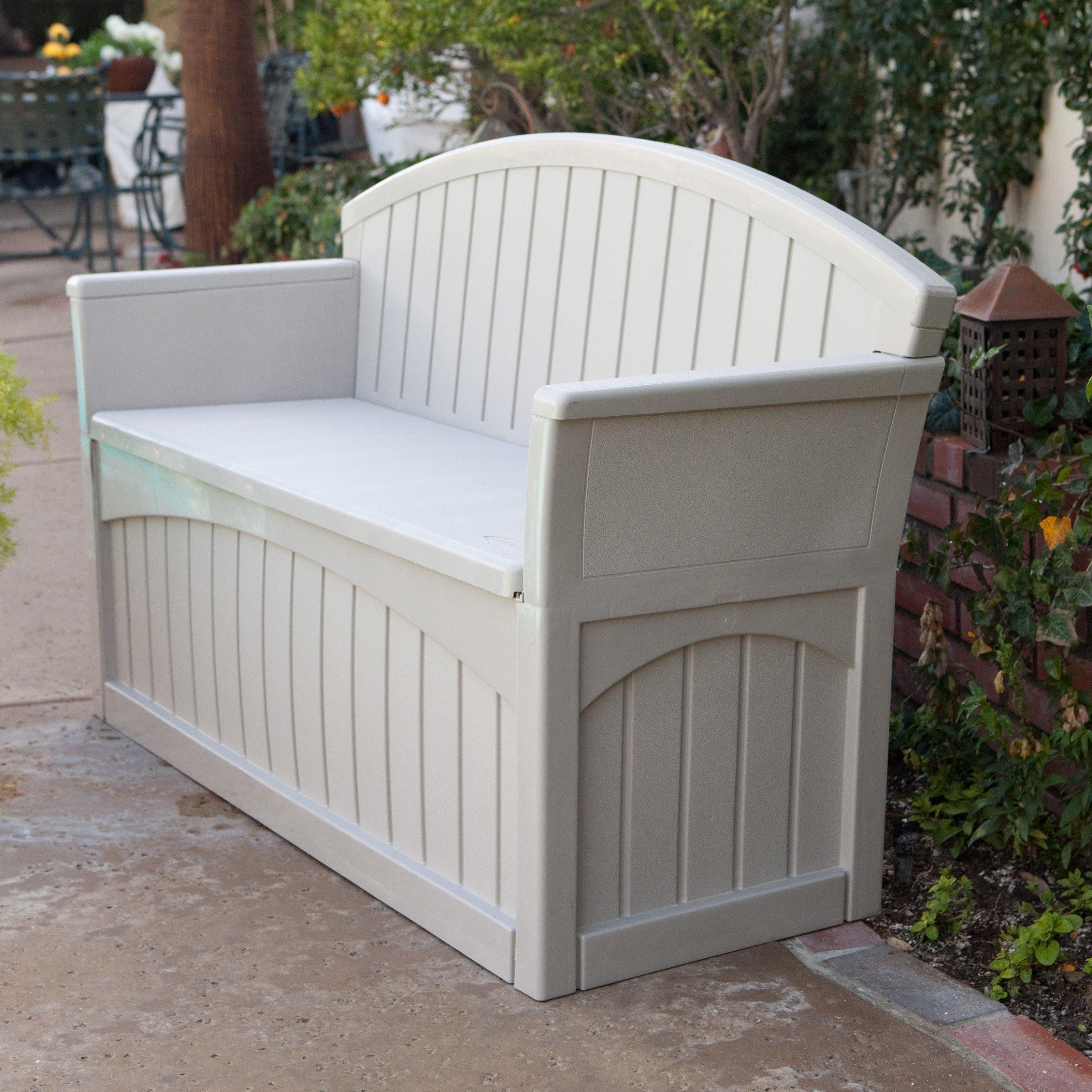 Cool Suncast 50 Gallon Patio Bench - Walmart.com suncast patio storage bench