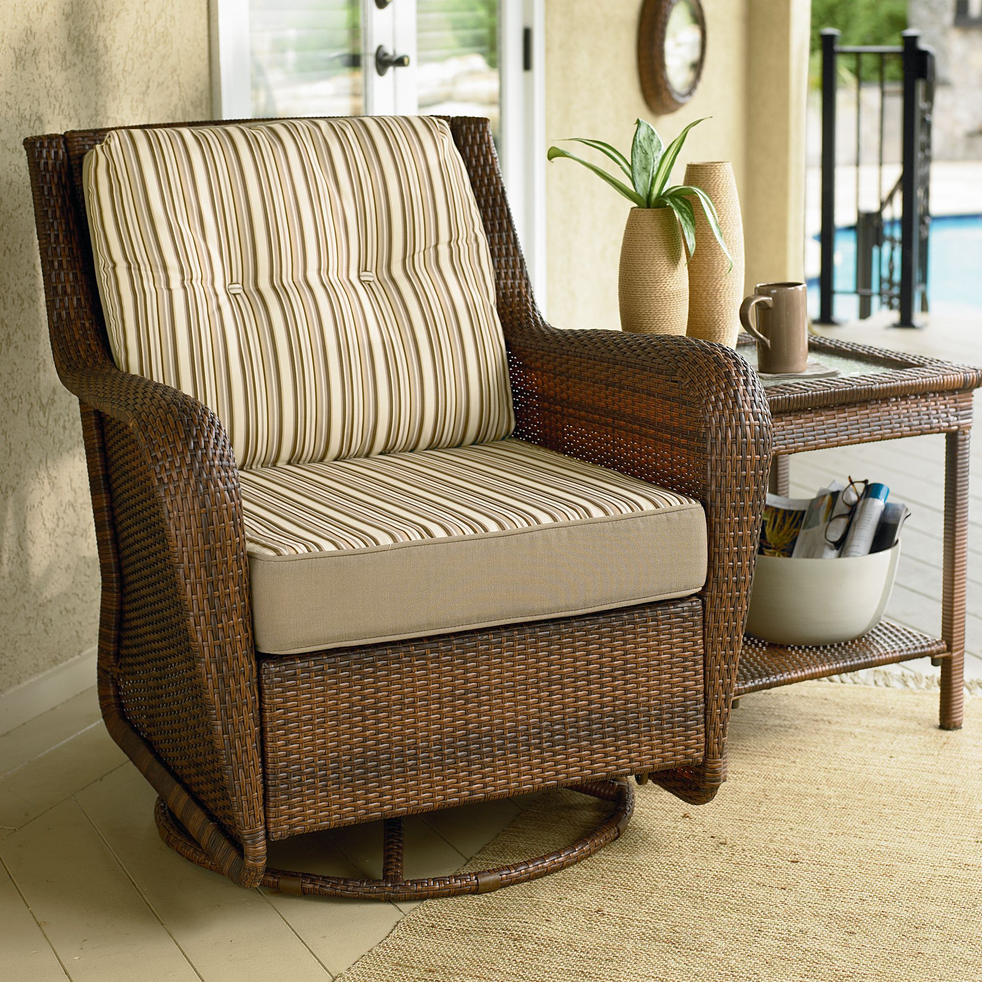 Luxury Swivel Glider Chair: Relax in Style with Classy Ideas from Sears swivel glider patio chairs