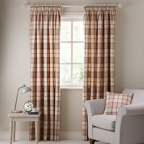Cool Buy John Lewis Marlow Check Pencil Pleat Curtains Online at johnlewis.com tartan pencil pleat curtains
