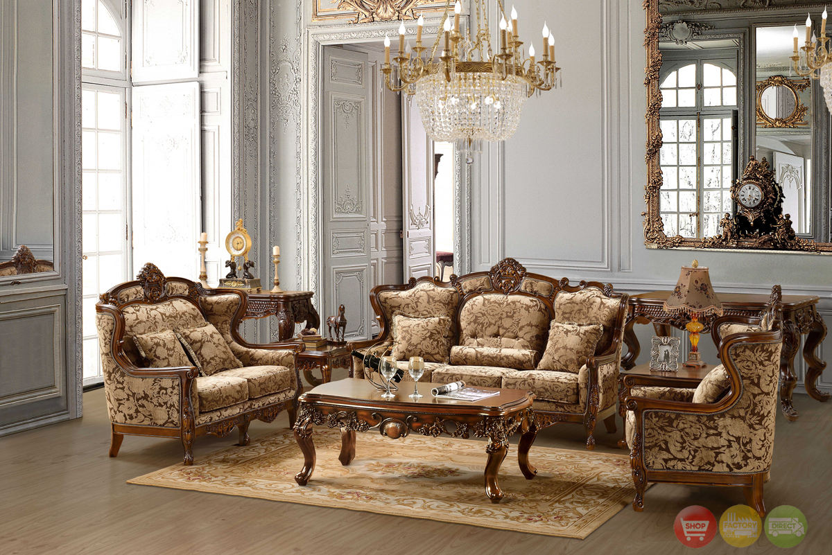 Cool Luxurious Traditional Style Formal Living Room Furniture Set HD 839 traditional living room furniture sets