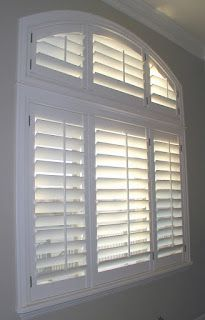 Trending Arched Eyebrow windows are no problem for Plantation Shutters. arch window shade