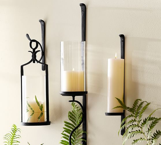 Trending Artisanal Wall-Mount Candleholder | Pottery Barn wall mounted candle holders