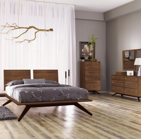 Trending Astrid Walnut Bedroom Set walnut bedroom furniture sets