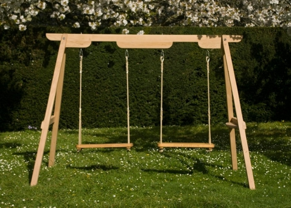Trending Double garden swing - wooden. Option 1 wooden garden swings for adults