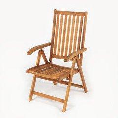 Trending Ellister Portland FSC Acacia Reclining Armchair wooden garden recliners