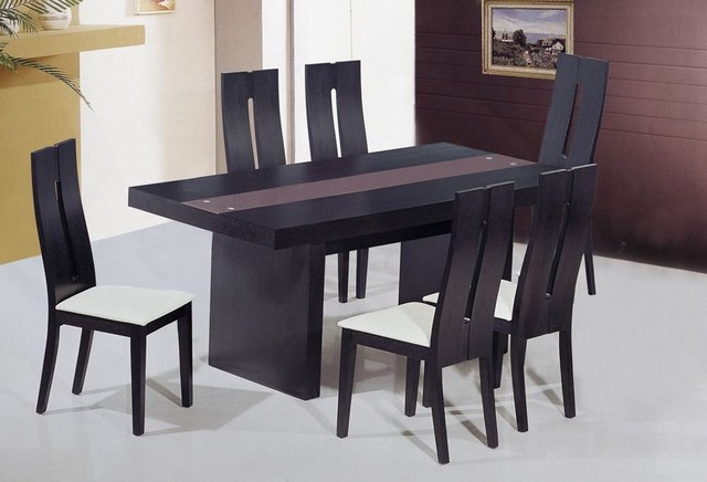 Trending Glass Kitchen Table Set Dining Room Modern Rectangular Glass Regarding Modern  Dining modern dining table sets