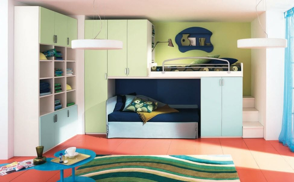 Trending Image of: Kids Bunk Beds with Storage Modern kids bunk beds with storage