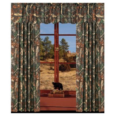 Trending Oak Camo Window 84-Inch Panel Pair camo window curtains