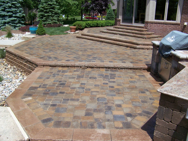 Trending Paver Patio Designs | Brick Paver Porch Patio and Stairs brick paver patio designs