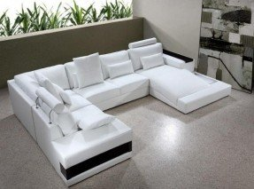 Trending Small modern white leather sectional sleeper sofa with chaise leather sectional sleeper sofa