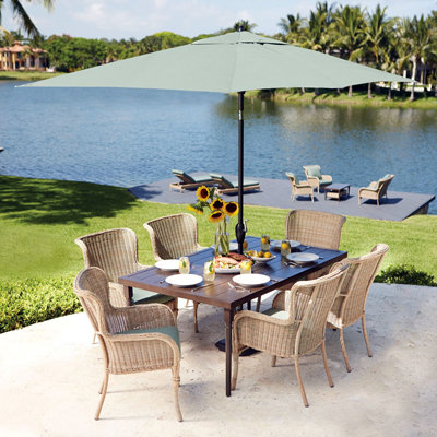 Unique 10.5+ Feet patio table umbrella