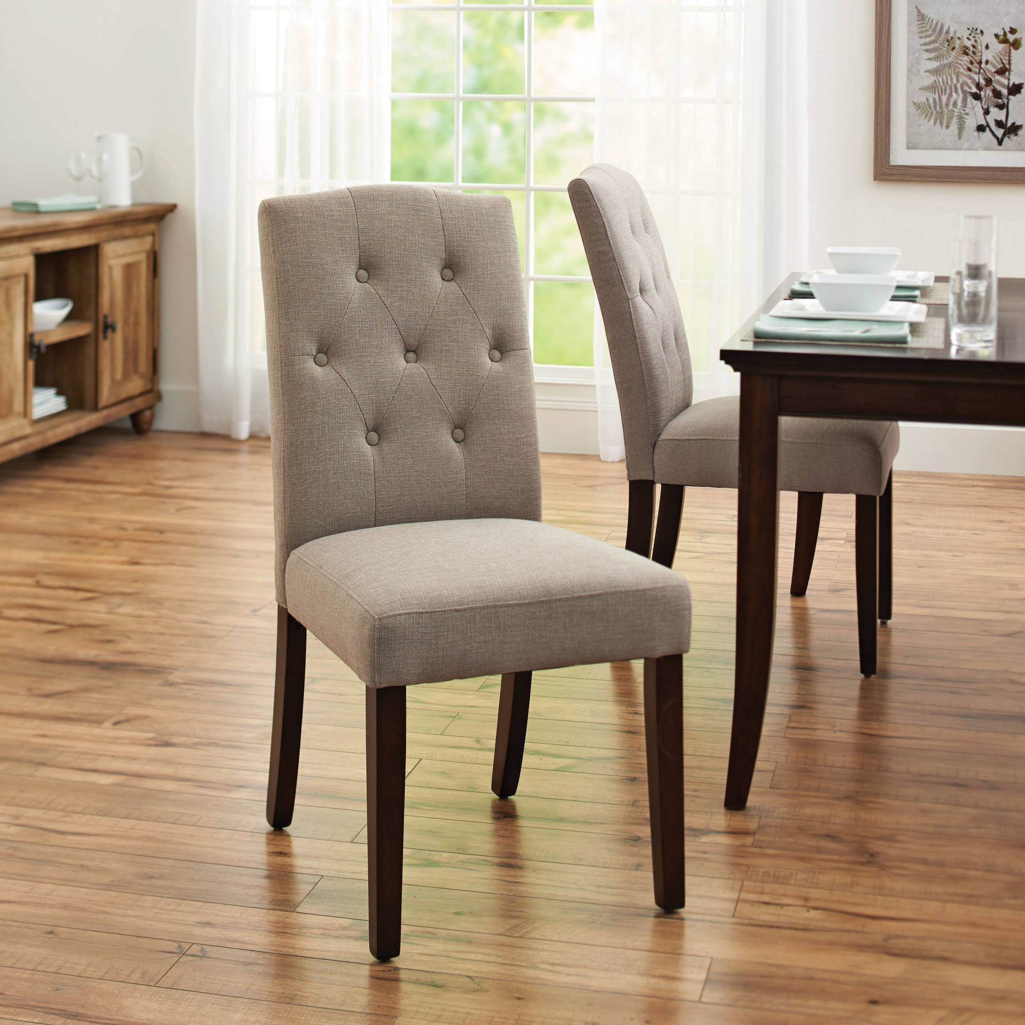 Unique Better Homes and Gardens Parsons Tufted Dining Chair, Taupe - Walmart.com parsons dining chairs