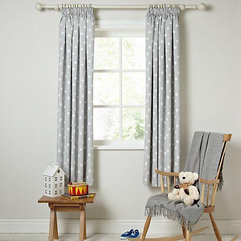 Unique Buy little home at John Lewis Star Pencil Pleat Blackout Lined Curtains nursery blackout curtains