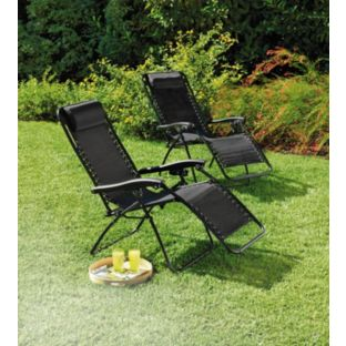 Unique Buy Reclining Sun Loungers - Set of 2 at Argos.co.uk - Your garden sun loungers recliners