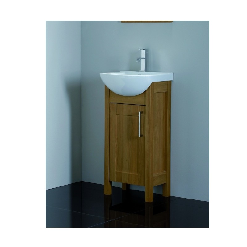 Unique Cavalier Sendai 450mm Cloakroom Bathroom Vanity Unit Natural cloakroom vanity unit