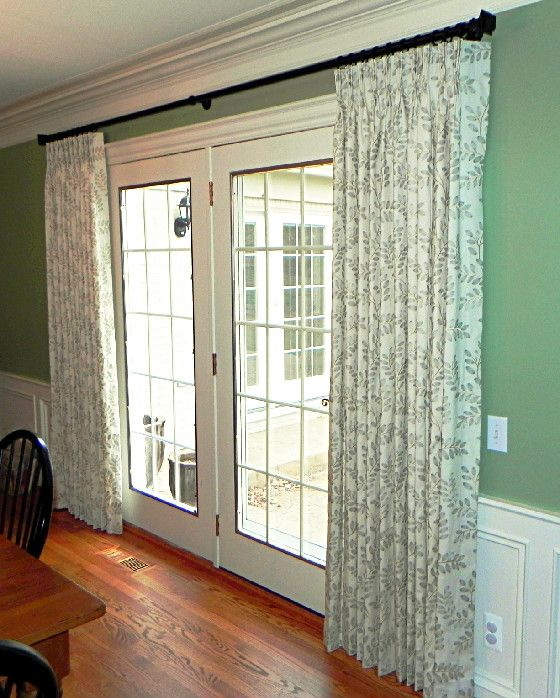 Unique Curtains on french doors | Home Decorating Ideas: Curtain Panels for French window treatments for french doors in bedroom