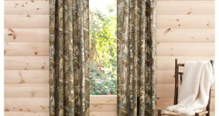 Unique RealTree Xtra Camo Curtain Panels, Set of 2 camo blackout curtains