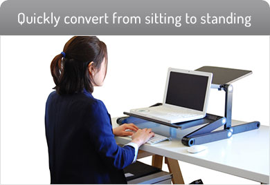 Unique WorkEZ Standing Desk puts you in a beautiful ergonomic position sit stand desk converter