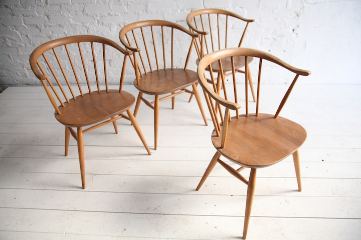 Amazing ... Vintage Ercol Cowhorn Dining Chairs 2 ... vintage ercol dining chairs