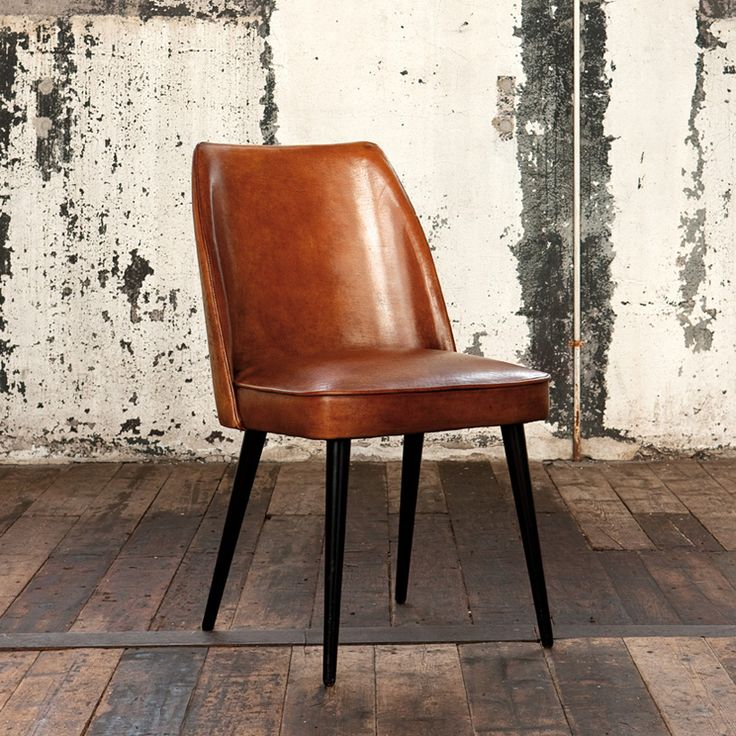 Cool vintage-chair-as-pair-of-dining-table-with- vintage leather dining chairs