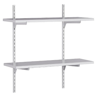 Modern ClosetMaid Wall-Mounted Adjustable 2-Shelf Shelving Unit - White wall mounted adjustable shelving