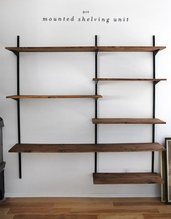 Create more space with Wall shelving units