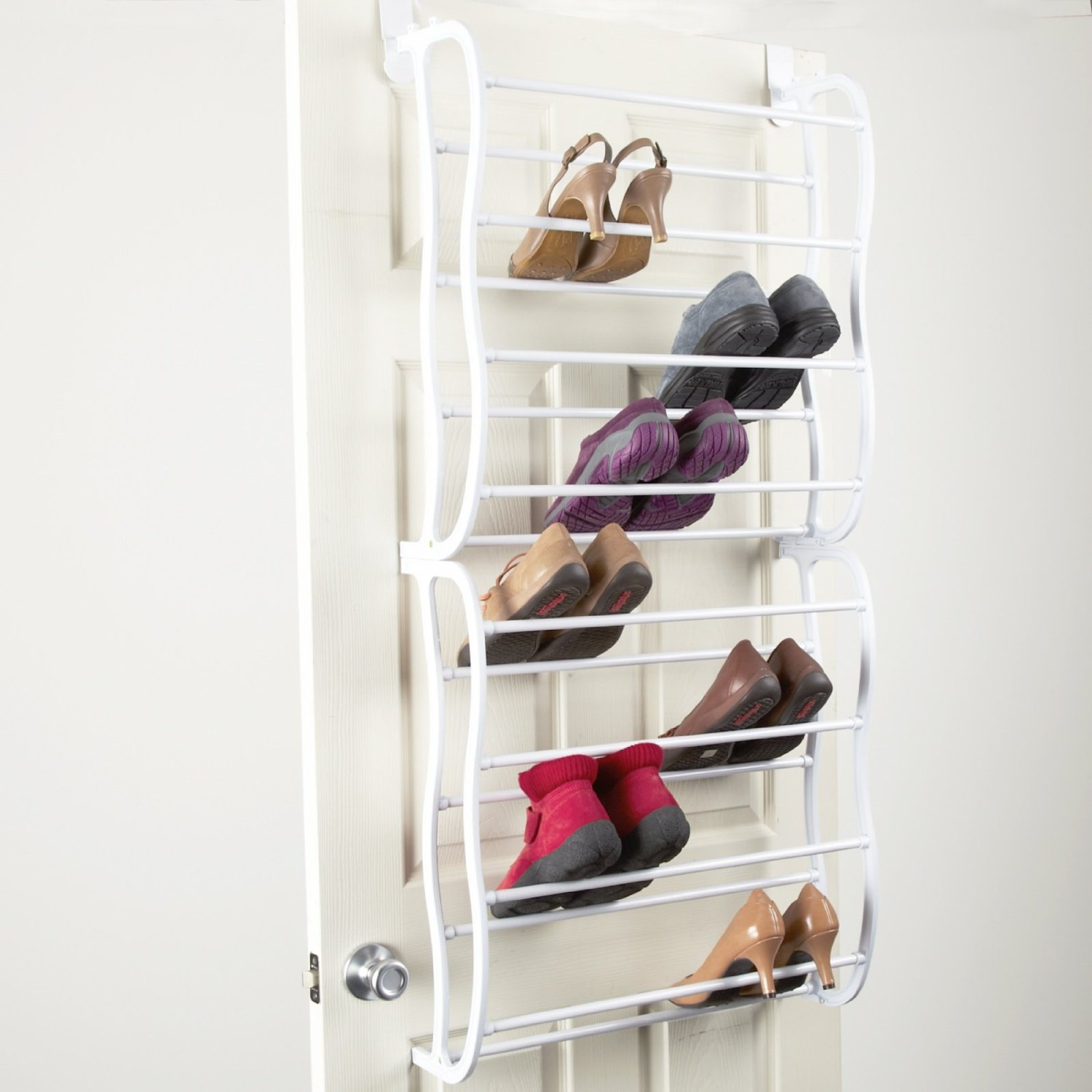 Elegant Innovative Shoe Racks For Closets Design And Ideas Image Of Door. toenail wall mounted shoe racks for closets