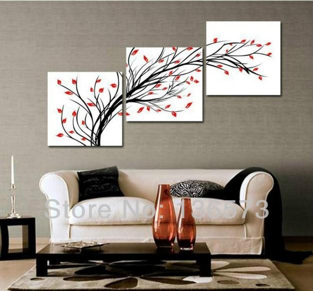 Chic Living room walls · 3+Diagonal+Wall+Art+Set | ... Piece Wall Art wall paintings for drawing room