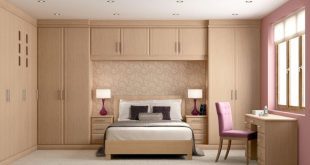New Awesome Bedroom Design With Wooden Wall Mounted Wardrobe Cabinets Also  Office wall wardrobe design for bedroom