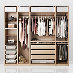 Elegant Fitted ... wardrobe storage solutions