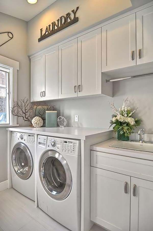 Ideas of 60 Amazingly inspiring small laundry room design ideas white cabinets for laundry room