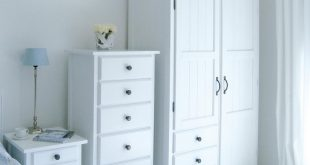 Amazing Manhattan Double Wardrobe With Drawers: New England Style White Bedroom  Furniture white wardrobe with drawers