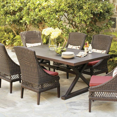 Modern Outdoor wicker furniture in a variety of styles from Patio Productions wicker outdoor furniture